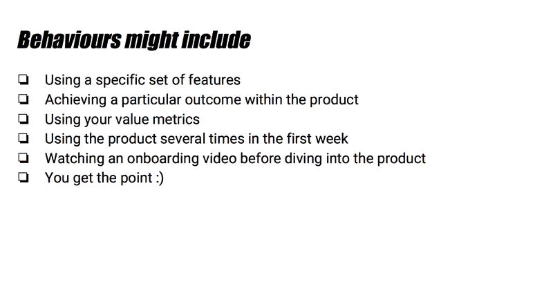 Potential customer behaviors