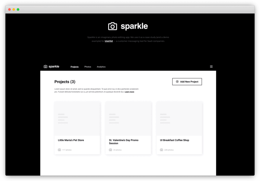 Sparkle's homepage