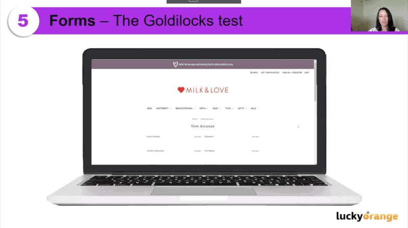Website forms - Goldilocks Test