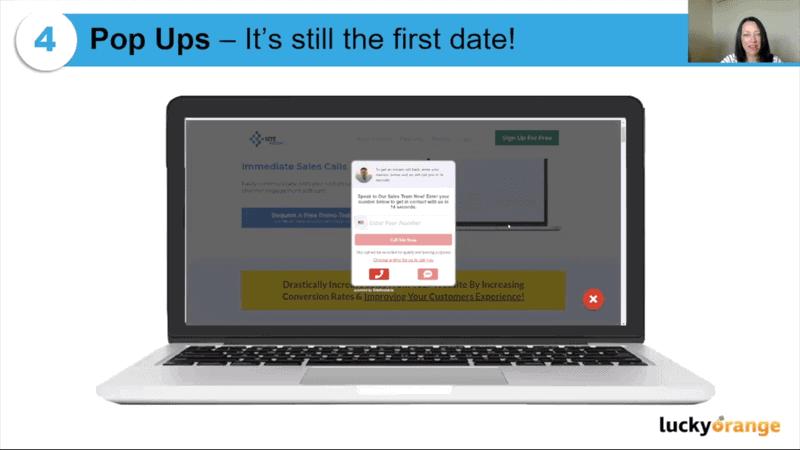 Popups on websites application