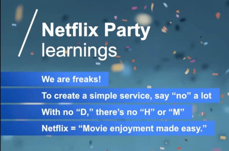 Netflix Party learnings