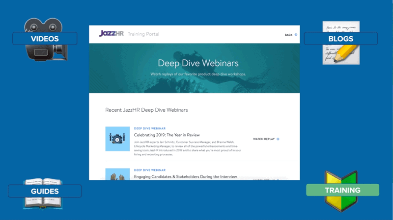 """""""Deep Dive Webinars"""" from JazzHR used to increase retention"""