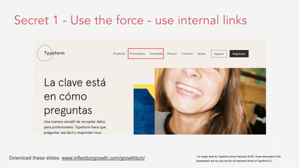 Secret 1 Use internal links