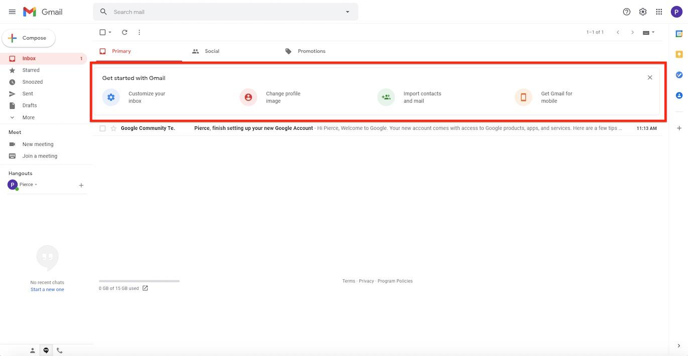 Gmail Empty State