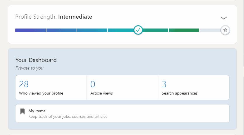 ProductLed LinkedIn profile strength
