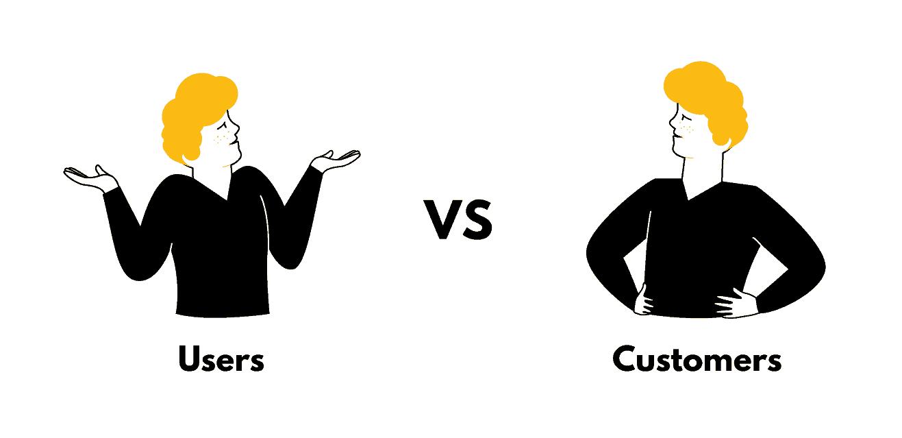 user onboarding users versus customers