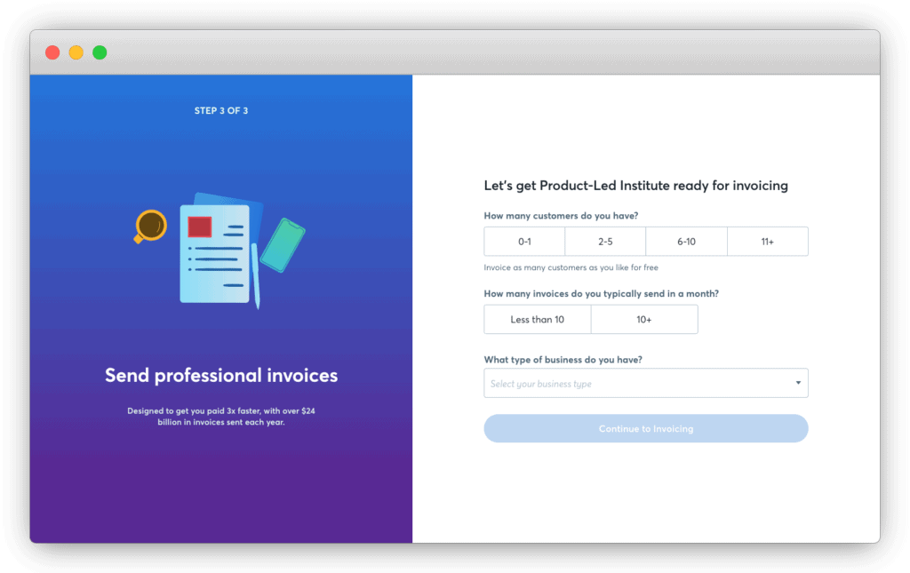 Wave's User Onboarding copy reminds users of their value