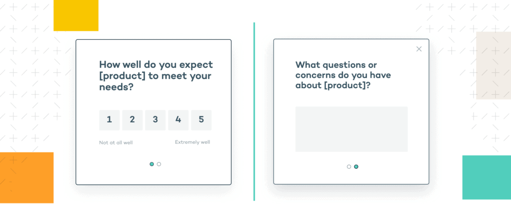 customer research microsurvey example